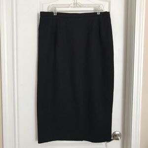 Alfred Dunner Black Plus Size Pencil Skirt Size 18
